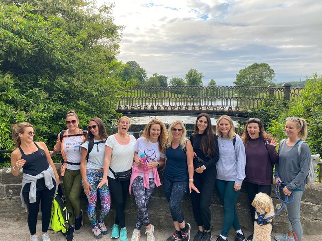 26 ladies from Harrogate will be walking a marathon on Sunday, July 4 to raise money for Saint Michael's Hospice and Candelighters charities.