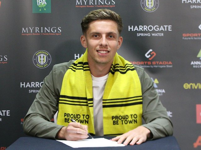 Danilo Orsi is Harrogate Town's second signing of the summer transfer window.