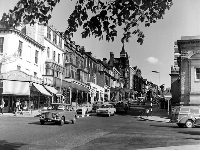 A61 nostalgia: Back to the early 1970s and an archive photo from the North Yorkshire County Record Office after the switch to one-way traffic was made on the A61 at Parliament Street.