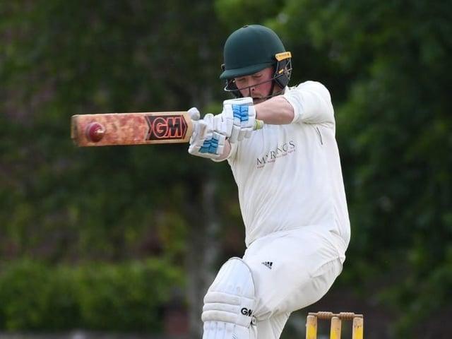 Rob Stanworth batting for Harrogate CC 3rds during Saturday's victory over Burton Leonard. Pictures: Gerard Binks