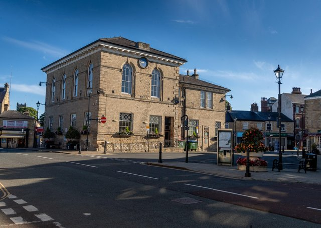 Date: 31st August 2020.Picture James Hardisty.YP - Magazine, Wetherby Heritage feature.........Pictured Wetherby Town Hall.