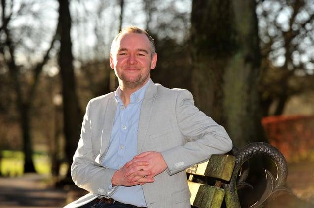 Nick Hancock in the Valley Gardens, Harrogate. Picture Gerard Binks