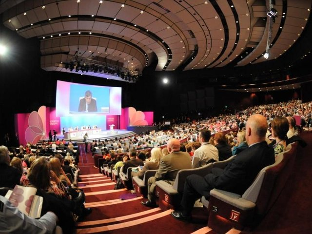 Back in action - Harrogate Convention Centre which in a normal year hosts an estimated 150,000 conference and trade delegates with a local economic impact of more than £35m.