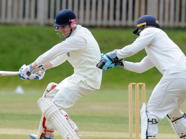 Follifoot CC skipper Nick Robinson was amongst the runs once again, but couldn't save his side from a first loss in six matches. Picture: Tony Johnson