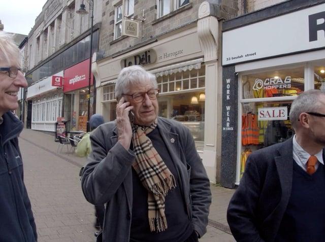 All We Got Was Love - BAFTA-winning filmmaker Tony Palmer during his visit to Harrogate Film Festival last year in the company of Harrogate Film Society's Henry Thompson and the Harrogate Advertiser's Graham Chalmers.
