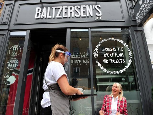 Baltzersen's cafe on Oxford Street in Harrogate.
