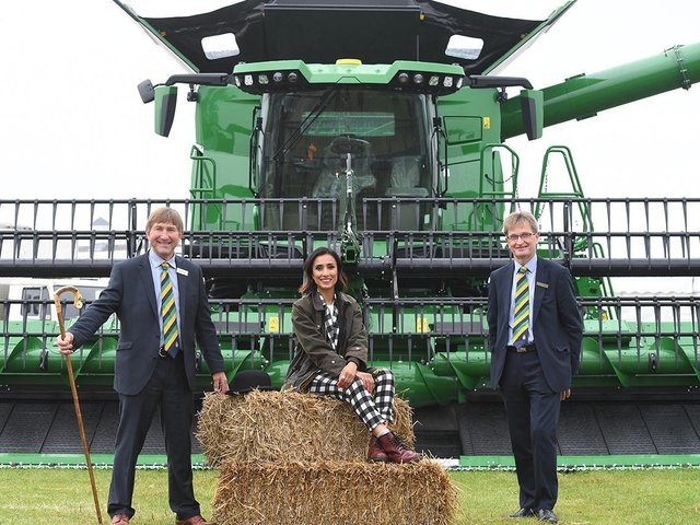 Show Director Charles Mills with Anita Rani and CEO Nigel Pulling