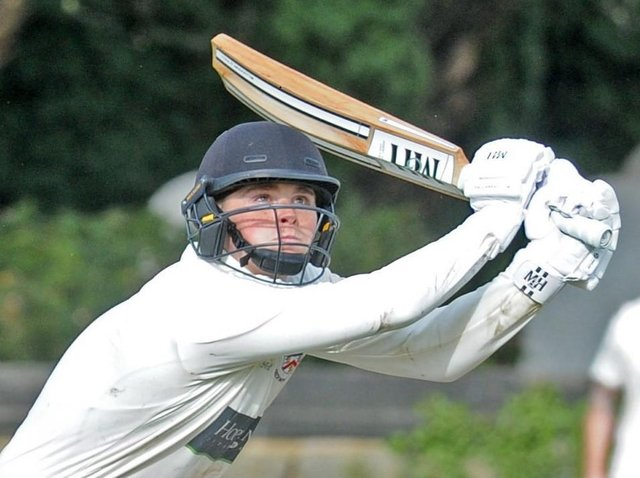 Joe Holderness top-scored for Beckwithshaw CC as they made it five wins on the bounce. Picture: Steve Riding