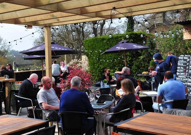 Flashback: Dining at The Bear in Knaresborough. Picture Gerard Binks