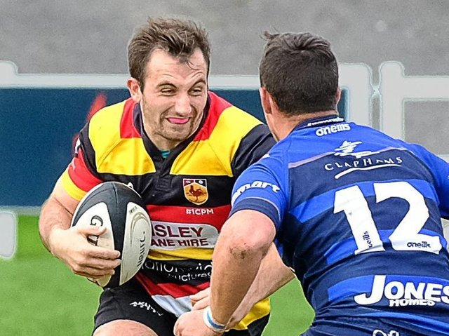 Sam Fox in action for Harrogate RUFC. Picture: Richard Bown