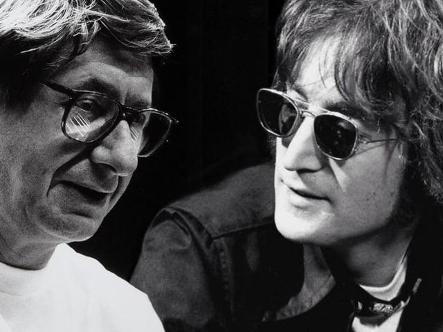 Friends and collaborators - BAFTA winning filmmaker Tony Palmer and The Beatles' John Lennon.