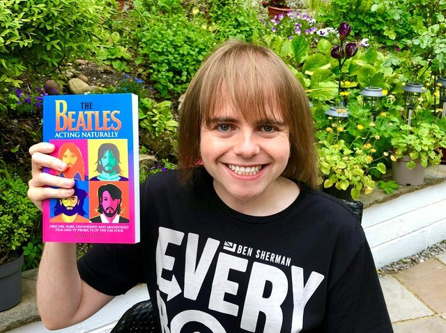 Rory Hoy whose new book on The Beatles has just been published by New Haven Publishing.