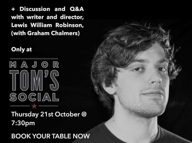 Next Thursday, October 21, will see award-winning Harrogate writer and director Lewis William Robinson presenting a free screening of three of his short films.