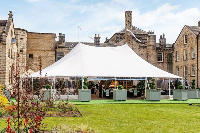The new Orchard restaurant at Grantley Hall is the ideal setting to enjoy some superb hospitality outside
